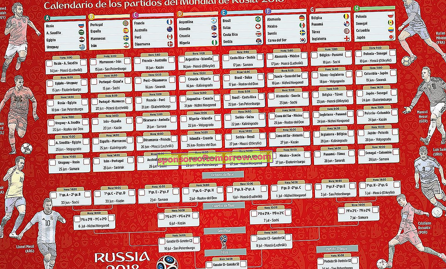 20 Soccer World Cup 2018 calendars to download and print 1