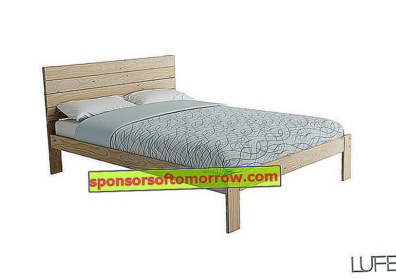 double bed lafe furniture