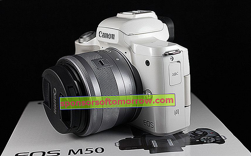 we have tested Canon EOS M50 side