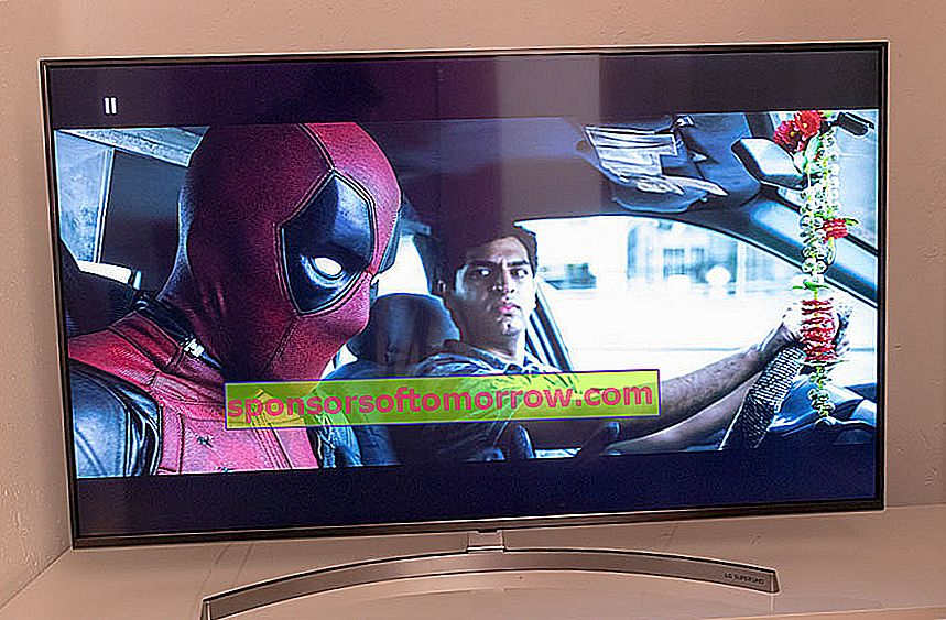we have tested LG 55SK8100 4K HDR Deadpool
