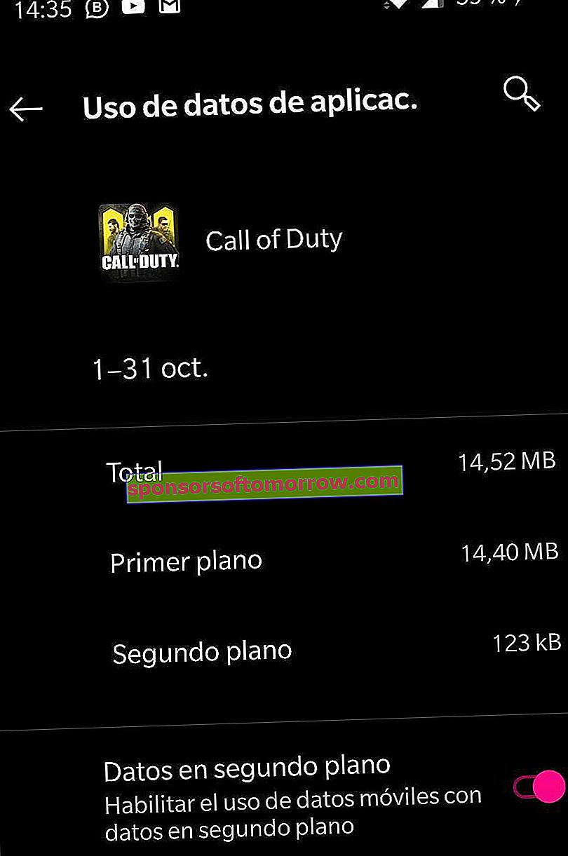 how much does call of duty mobile consume