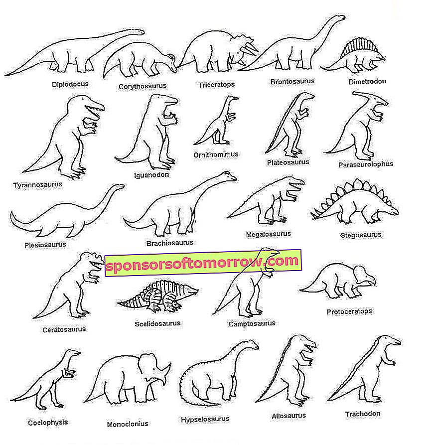 Dinosaurs to paint: drawings to download