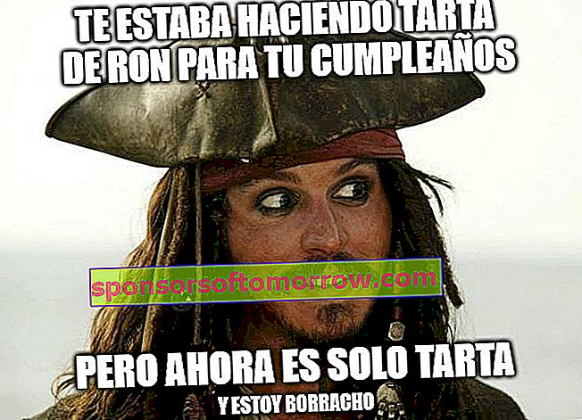 rum tart meme Jack Sparrow WhatsApp Facebook meets