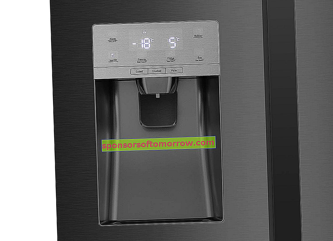 Hisense-RS694N4TF2 ice and water dispenser