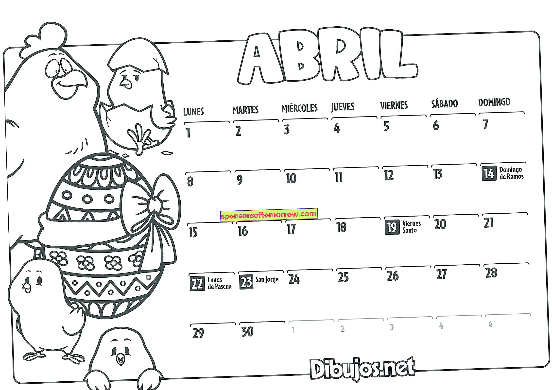 2019-kids-calendar-coloring-april