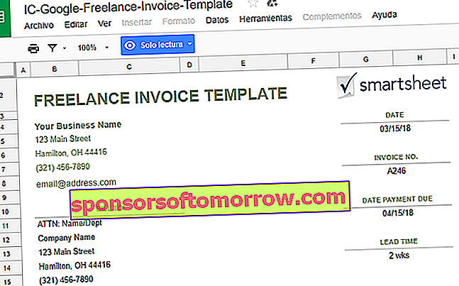 open invoice templates for Google Docs
