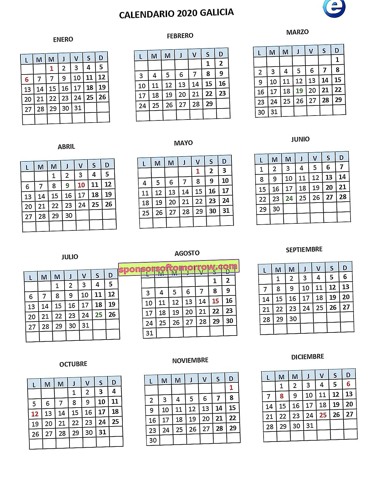 2020 work calendar, printable calendars with official holidays by community 2