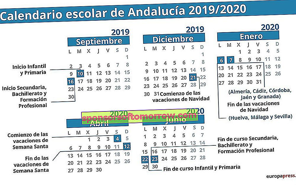 2019-2020 school calendar to download, dates and holidays in all communities 1