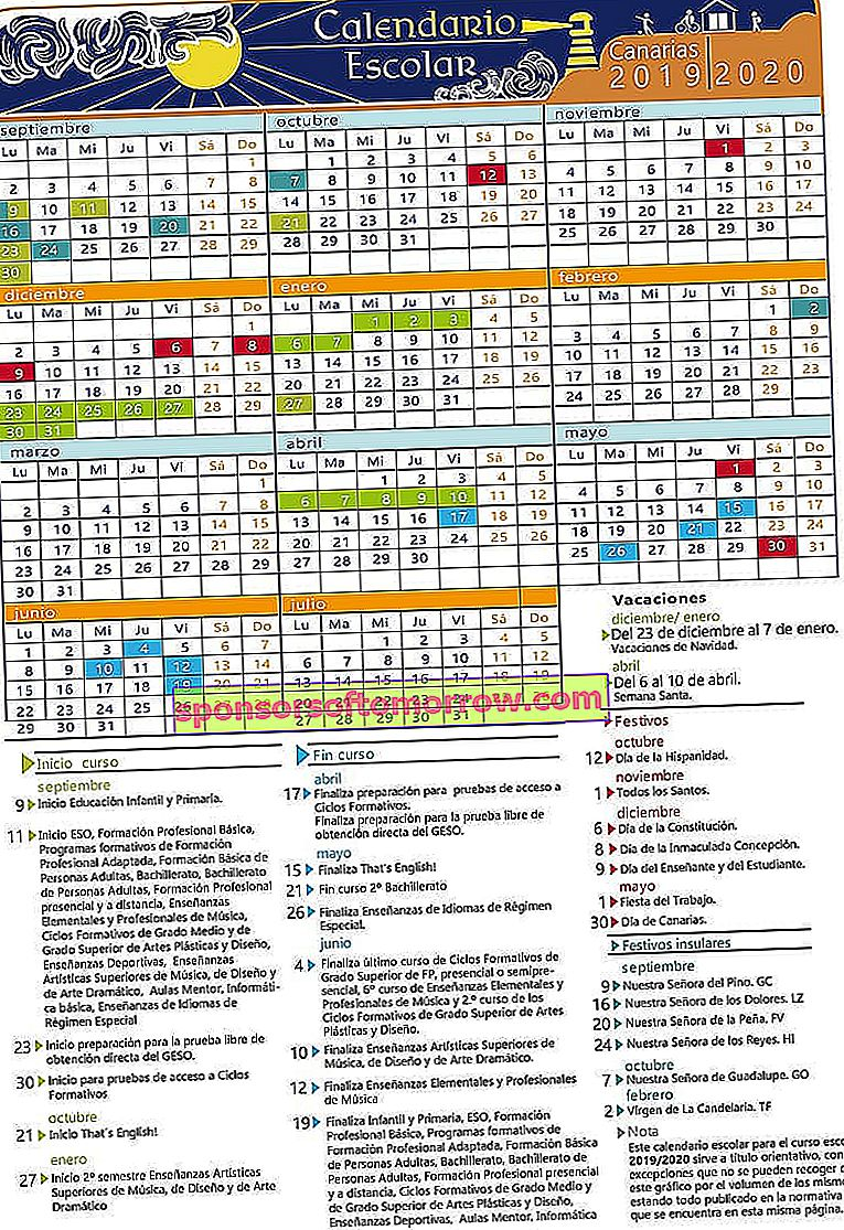 school_ calendar_19_20-Canary Islands