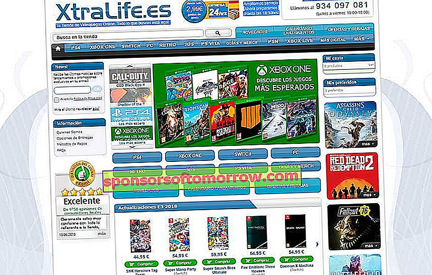 5 online stores to buy video games at a good price XtraLife
