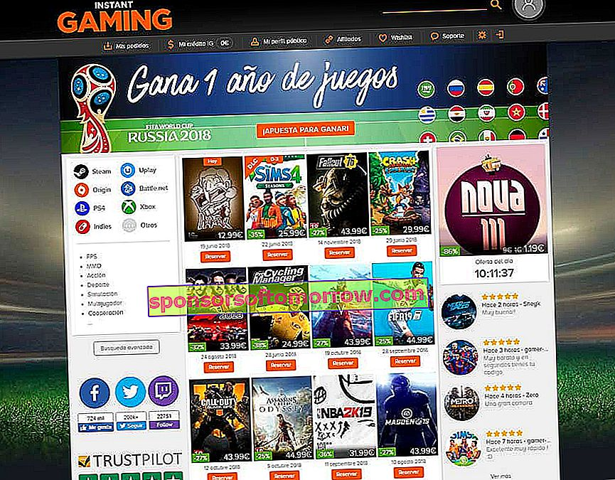 5 online stores to buy video games at a good price Instant Gaming