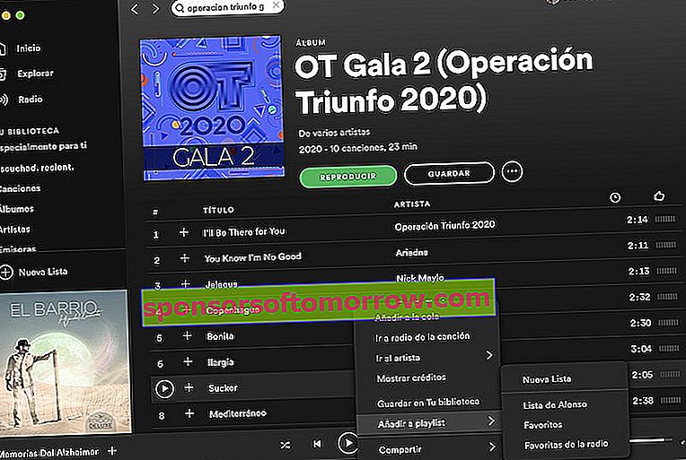 How to listen to all the themes of the OT 2020 galas on Spotify 1