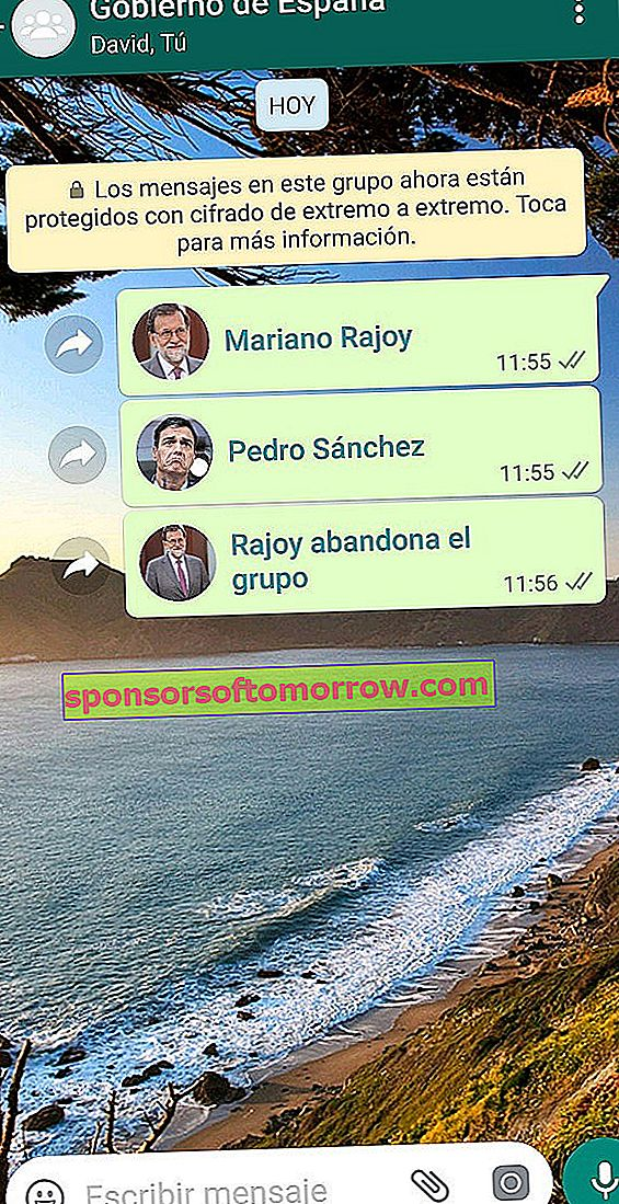 Complete joke of Rajoy leaves the WhatsApp group
