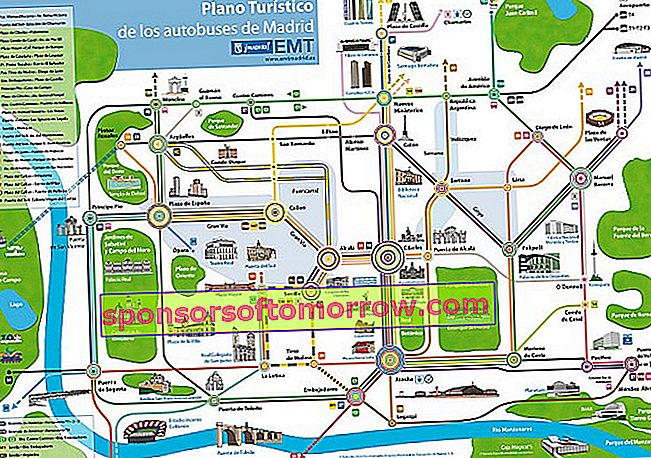 Madrid bus map