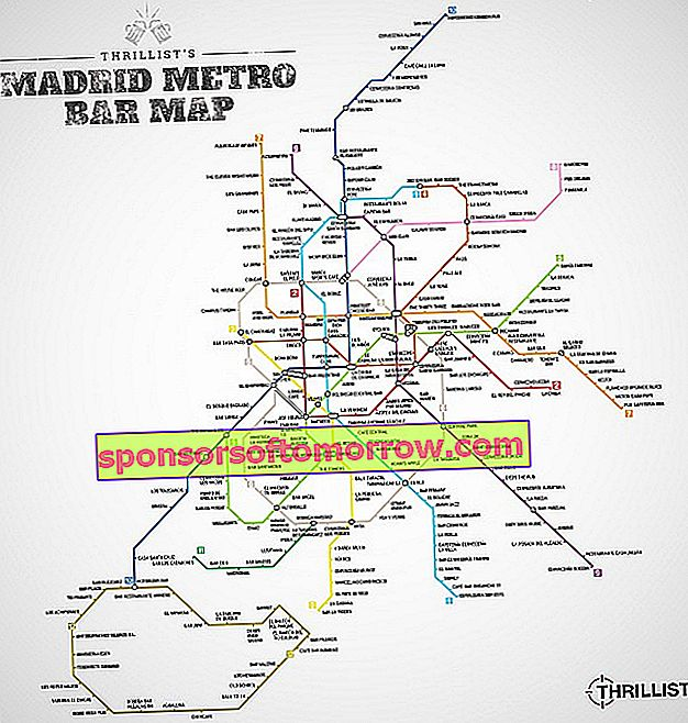 metrobar madrid maps