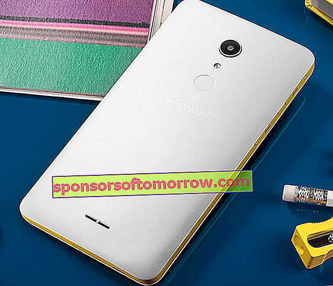 alcatel a3 xl yellow rear