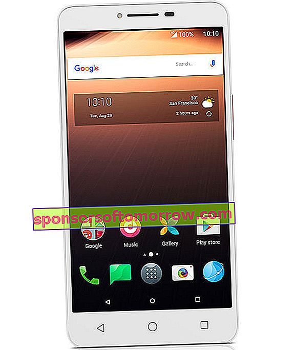 alcatel a3 xl front white