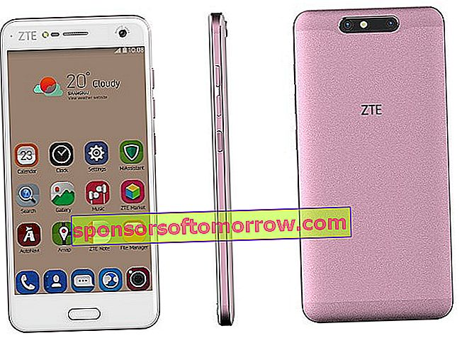 ZTE Blade V8 front and rear