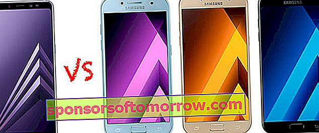 We compare the Galaxy A8 and A8 + with the Galaxy A3, A5 and A7
