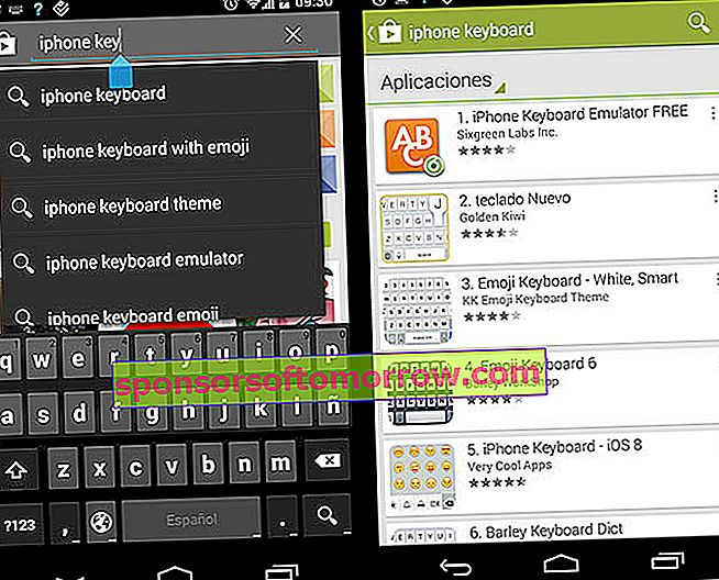 Android keyboard iPhone