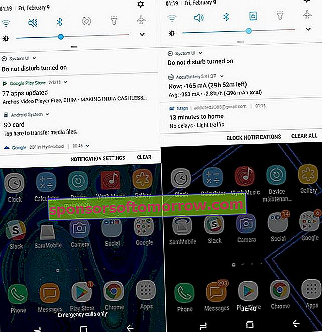 The differences between Android 8 and Android 7 in a Samsung Galaxy S8 4