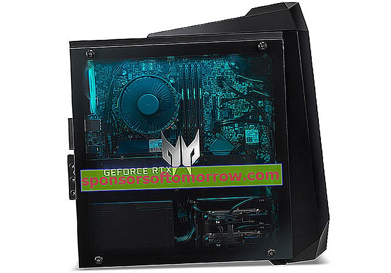 launch Acer Predator Orion 3000 side window