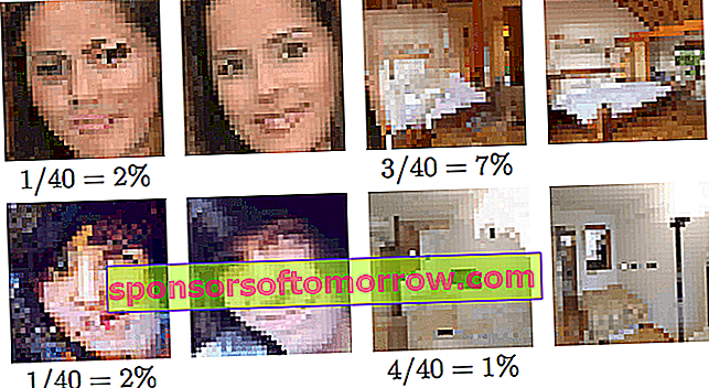 google brain pixelated photos