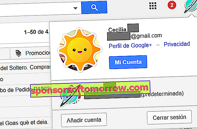 akun default gmail