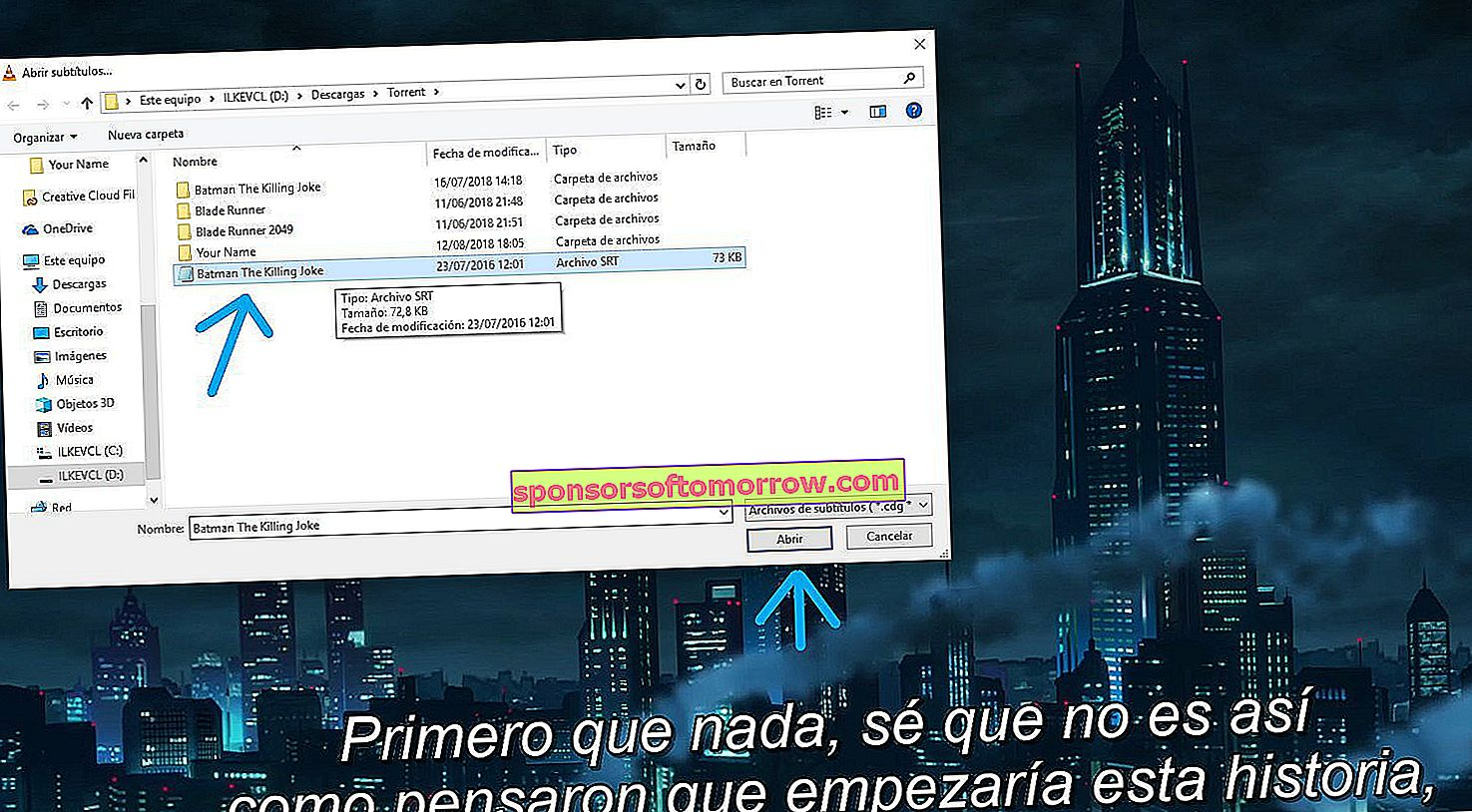 How to fix weird characters that appear in Spanish subtitles