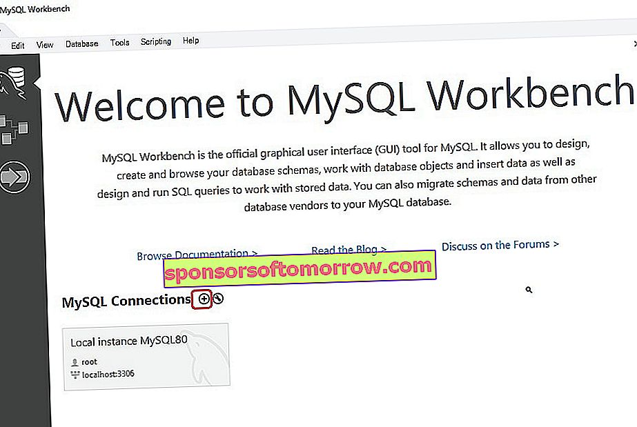 connect to MySQL server from MySQL Workbench 01 application