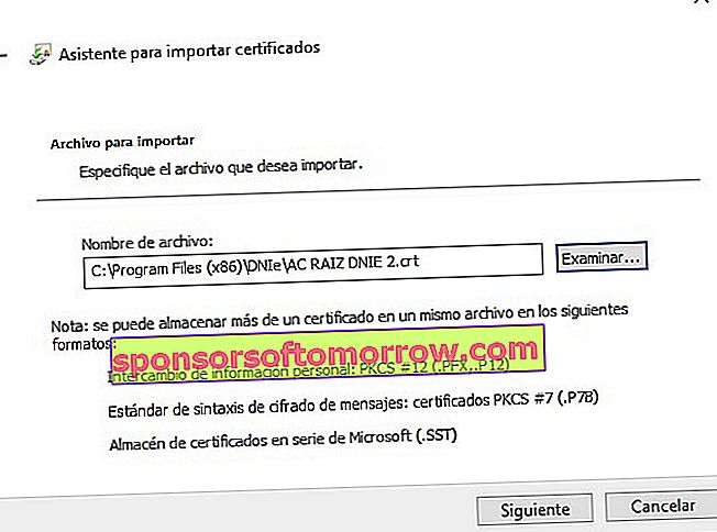Install the electronic DNI validation certificates 8