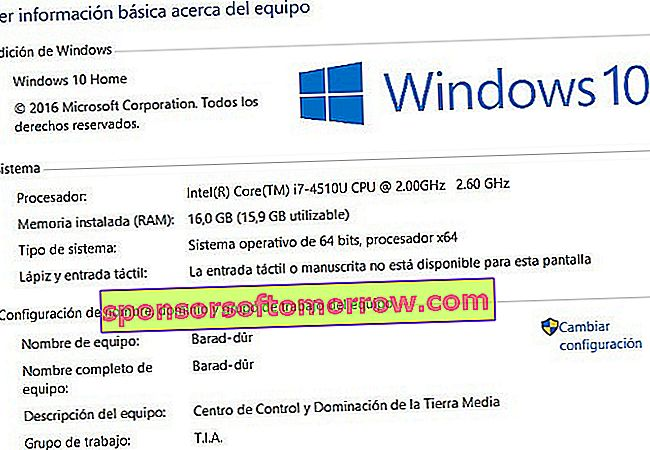 basic information Windows 10 computer