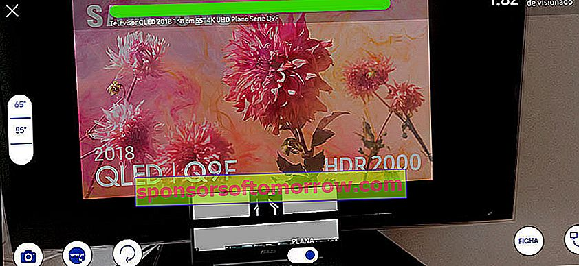 We tested the Samsung app to calculate the ideal size of the TV screen scan