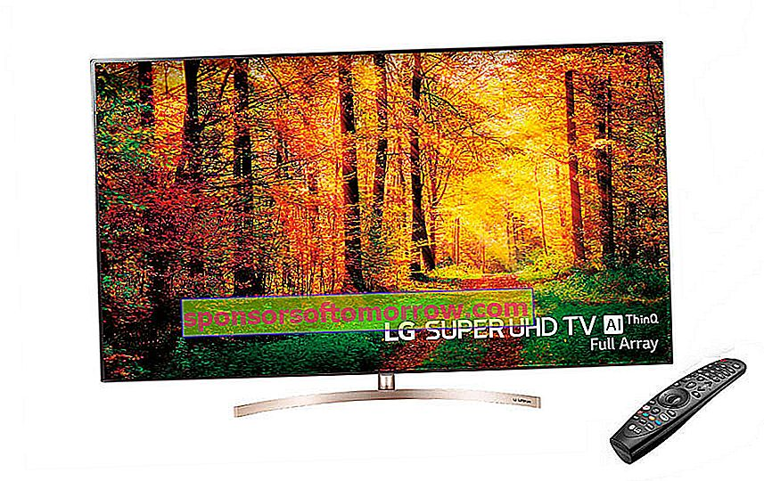 LG Super UHD TV AI ThinQ SK 9500PLA, Full Array TV with Nano Cell