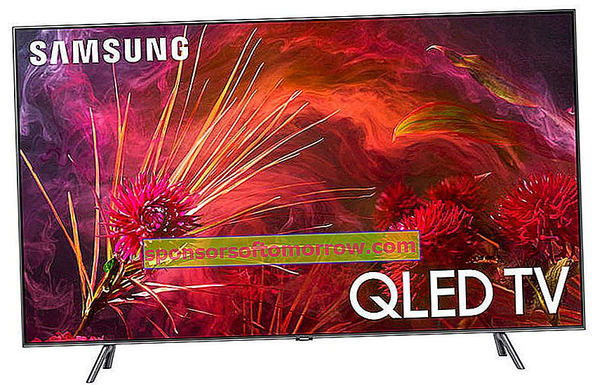 65-inch Samsung QLED Q8F, full illumination and HDR10 +