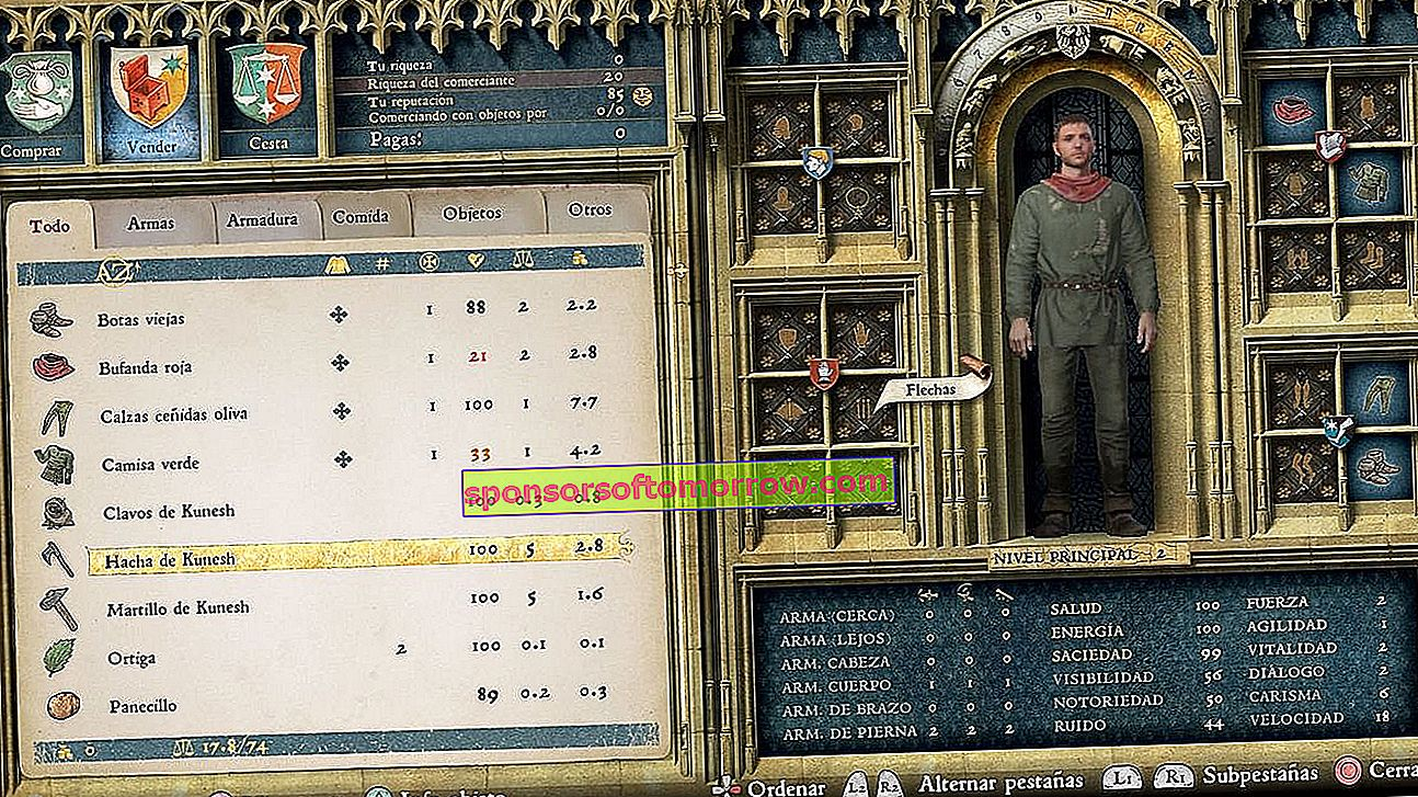 Kingdom Come: Deliverance Character Sheet
